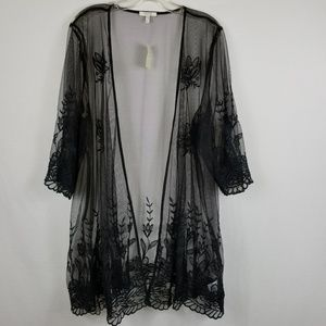Maurices Size 3 Black Lace Duster Size 24/26